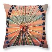 Capital Wheel Shining At Sunset  Throw Pillow