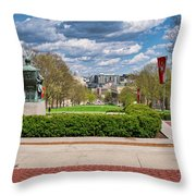 Capitol - Madison - Wisconsin From Bascom Hall Throw Pillow