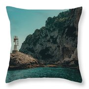 Capri Lighthouse Throw Pillow