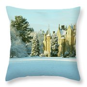 Carberry Tower In Late Afternoon Sunshine Throw Pillow