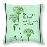 Card For St. Patrick's Day Throw Pillow