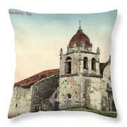 Carmel Mission, Monterey, Cal. Circa 1880 Throw Pillow by California Views Archives Mr Pat Hathaway Archives