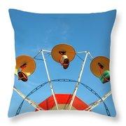 Carnival Fan Throw Pillow