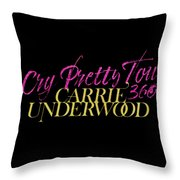 Carrie Underwood Cry Pretty 2019 Ajadcode11 Throw Pillow
