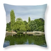 Carshalton Ponds Throw Pillow