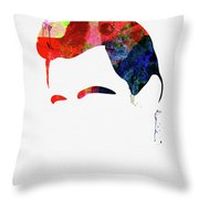 Cash Watercolor Throw Pillow