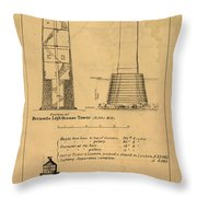Cast Iron Lighthouses Throw Pillow