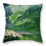 Castelluccio Throw Pillow by Brian Jannsen
