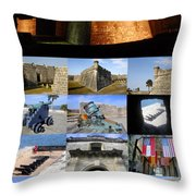 Castillo De San Marcos National Monument Throw Pillow