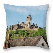 Castle At Cochem In Germany Throw Pillow