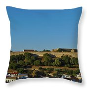 Castle Of Castro Marim From The Hill Throw Pillow