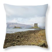 castle Stalker in late autumn Throw Pillow