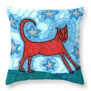 Cat By Starlight Throw Pillow