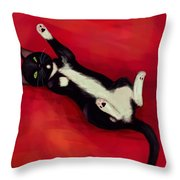 Cat N Throw Pillow