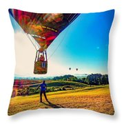 Catch Me If You Can. Throw Pillow by Kendall McKernon