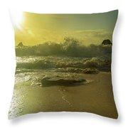 Catching The Spirit Sun Coastal Sunrise Throw Pillow