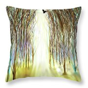 Cathedral Forest Throw Pillow by Darren Cannell