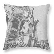 Cathedral Helena Montana Throw Pillow