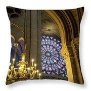 Cathedrale Notre Dame De Paris Throw Pillow by Brian Jannsen