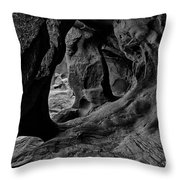 Cavern Of Lost Souls Throw Pillow