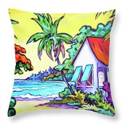 Cayman Cottage On The Bay Throw Pillow