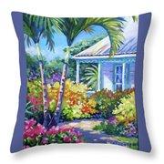 Cayman Yard Throw Pillow