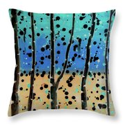 Celebration - Abstract Landscape  Throw Pillow