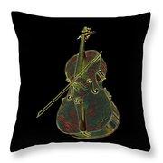 Cello Music Instrument Professional Musician Designed Throw Pillow