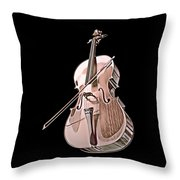 Cello String Music Instrument Musician Color Designed Throw Pillow