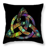 Celtic Triquetra Or Trinity Knot Symbol 3 Throw Pillow