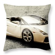 Cement And Chrome Throw Pillow