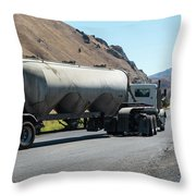 Cement Truck Turning Throw Pillow