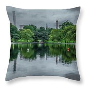 Central Park Reflections Throw Pillow