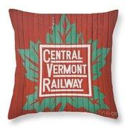 Central Vermont Railway Throw Pillow