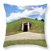 Indian Mound At Ocmulgee National Monument 1 Throw Pillow