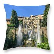 Fountain Of Neptune Throw Pillow