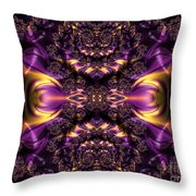 Chained Dragons Condemned  To Battle In Hells Fiery Furnace Fractal Abstract Throw Pillow by Rose Santuci-Sofranko