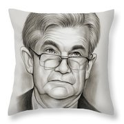 Chairman Powell Throw Pillow