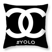 Chanel You Only Live Once Throw Pillow