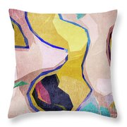 Chaotic Abstract Shapes Throw Pillow