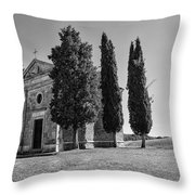 Cappella Di Vitaleta Throw Pillow