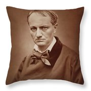 Charles Baudelaire, French Poet, Portrait Photograph  Throw Pillow