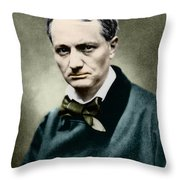 Charles Baudelaire, French Writer, Photo Throw Pillow