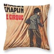 Charlie Chaplin Dans Le Cirque - Vintage Advertising Poster Throw Pillow