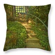 Chateau Montelena Garden Stairway Throw Pillow