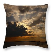 Cheboygan Lakeside Sunset Throw Pillow