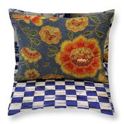 Checkerboard And Pillow Throw Pillow