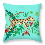 Cheetah's Hunt Throw Pillow