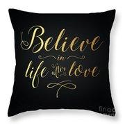 Cher - Believe Gold Foil Throw Pillow