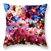 Cherry Blossoms 1 Throw Pillow